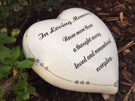 In Loving Memory ~ Graveside Heart Memorial Ornament